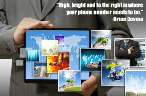 Practice Websites - phone number high bright and to the right