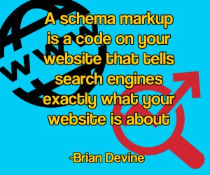 A schema markup is a code on your website that tells search engines exactly what your website is about