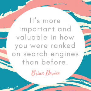 It's more important and valueble in how you were ranked on search engines than before.