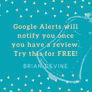 Google Alerts will notify you once you have a review. Try this for FREE!