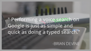 Performing a voice search