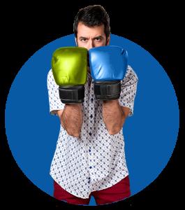 Boxing guy for kick butt online marketing